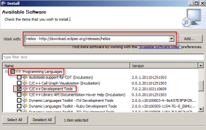 Install the C++ developer tools